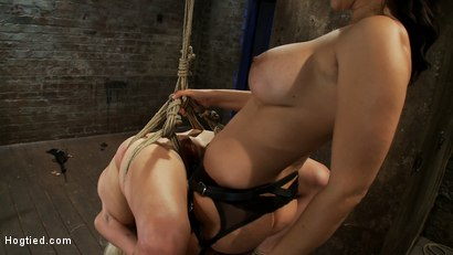 Photo number 9 from Lorelei is bound on screen, brutally fucked by Isis Love in a back breaking Category 5 suspension. shot for Hogtied on Kink.com. Featuring Lorelei Lee and Isis Love in hardcore BDSM & Fetish porn.