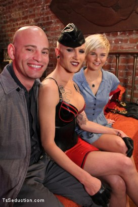 Photo number 15 from TS Danni Daniels fucks a Straight Couple in:  The Red Light Restricted shot for TS Seduction on Kink.com. Featuring Danni Daniels, Patrick Rouge and Chloe Camilla in hardcore BDSM & Fetish porn.