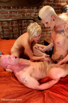 Photo number 9 from TS Danni Daniels fucks a Straight Couple in:  The Red Light Restricted shot for TS Seduction on Kink.com. Featuring Danni Daniels, Patrick Rouge and Chloe Camilla in hardcore BDSM & Fetish porn.