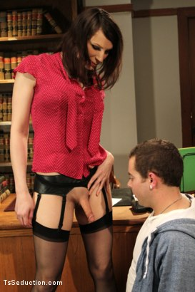 Photo number 5 from Audition BONUS Shoot <br> Debut Ts Talent shot for TS Seduction on Kink.com. Featuring Dina Swift and Jack Thunda in hardcore BDSM & Fetish porn.