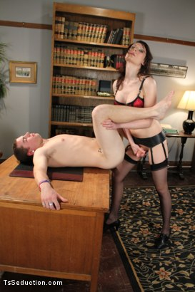 Photo number 10 from Audition BONUS Shoot <br> Debut Ts Talent shot for TS Seduction on Kink.com. Featuring Dina Swift and Jack Thunda in hardcore BDSM & Fetish porn.
