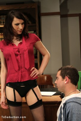 Photo number 3 from Audition BONUS Shoot <br> Debut Ts Talent shot for TS Seduction on Kink.com. Featuring Dina Swift and Jack Thunda in hardcore BDSM & Fetish porn.