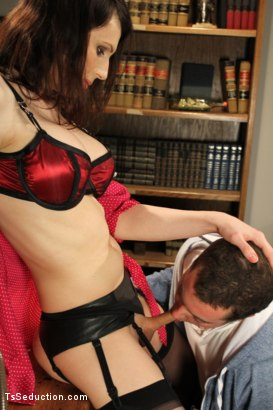 Photo number 8 from Audition BONUS Shoot <br> Debut Ts Talent shot for TS Seduction on Kink.com. Featuring Dina Swift and Jack Thunda in hardcore BDSM & Fetish porn.