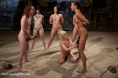 Photo number 12 from February 7 Slave Intake shot for The Training Of O on Kink.com. Featuring Emma Haize, Cheyenne Jewel, Sparky Sin Claire, Michelle, Shae Simone, Natasha Lyn, Tiffany Tyler and Maestro in hardcore BDSM & Fetish porn.