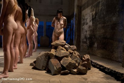 Photo number 4 from February 7 Slave Intake shot for The Training Of O on Kink.com. Featuring Emma Haize, Cheyenne Jewel, Sparky Sin Claire, Michelle, Shae Simone, Natasha Lyn, Tiffany Tyler and Maestro in hardcore BDSM & Fetish porn.