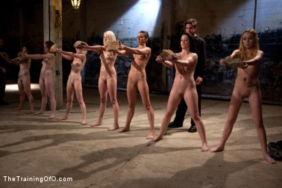 Photo number 6 from February 7 Slave Intake shot for The Training Of O on Kink.com. Featuring Emma Haize, Cheyenne Jewel, Sparky Sin Claire, Michelle, Shae Simone, Natasha Lyn, Tiffany Tyler and Maestro in hardcore BDSM & Fetish porn.