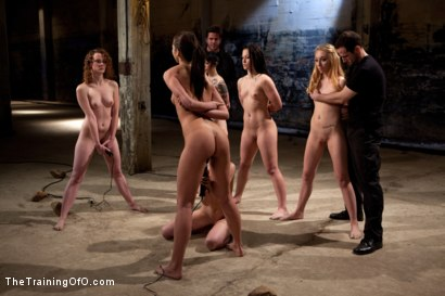 Photo number 10 from February 7 Slave Intake shot for The Training Of O on Kink.com. Featuring Emma Haize, Cheyenne Jewel, Sparky Sin Claire, Michelle, Shae Simone, Natasha Lyn, Tiffany Tyler and Maestro in hardcore BDSM & Fetish porn.