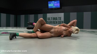 Photo number 8 from Two sexy rookies battle it out to see who fucks who.<br>Chloe is beaten and then fucked hard! shot for Ultimate Surrender on Kink.com. Featuring Chloe Camilla and Allie Haze in hardcore BDSM & Fetish porn.