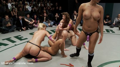 Photo number 14 from 5 Girl gang bang orgy from hell<br>The losers are getting fisted, fucked, & made to cum, humilated. shot for Ultimate Surrender on Kink.com. Featuring Hollie Stevens, DragonLily, Ariel X, Isis Love and Bella Rossi in hardcore BDSM & Fetish porn.