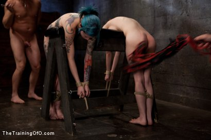 Photo number 13 from Day 5 red and blue shot for The Training Of O on Kink.com. Featuring Iona Grace, Krysta Kaos and Tom Moore in hardcore BDSM & Fetish porn.