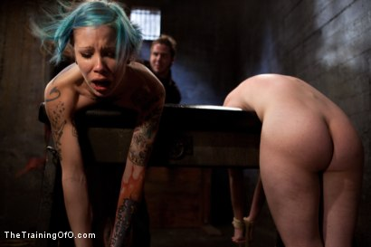 Photo number 15 from Day 5 red and blue shot for The Training Of O on Kink.com. Featuring Iona Grace, Krysta Kaos and Tom Moore in hardcore BDSM & Fetish porn.