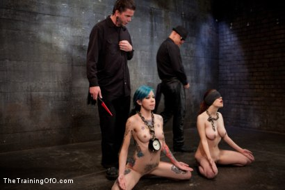 Photo number 4 from Day 5 red and blue shot for The Training Of O on Kink.com. Featuring Iona Grace, Krysta Kaos and Tom Moore in hardcore BDSM & Fetish porn.