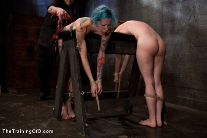 Photo number 16 from Day 5 red and blue shot for The Training Of O on Kink.com. Featuring Iona Grace, Krysta Kaos and Tom Moore in hardcore BDSM & Fetish porn.