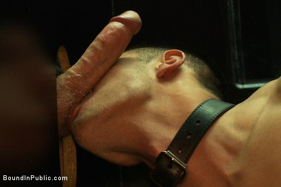 Photo number 8 from Latin hunk gets double penetrated at Folsom Gulch porn store. shot for Bound in Public on Kink.com. Featuring Christian Wilde and Emanuel in hardcore BDSM & Fetish porn.