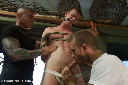 Photo number 3 from Nordic hunk humiliated and bukkake in a flower shop. shot for Bound in Public on Kink.com. Featuring Ned Mayhem and Blake Daniels in hardcore BDSM & Fetish porn.