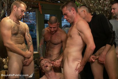 Photo number 11 from Nordic hunk humiliated and bukkake in a flower shop. shot for Bound in Public on Kink.com. Featuring Ned Mayhem and Blake Daniels in hardcore BDSM & Fetish porn.