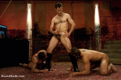 Photo number 6 from The Reunion - Live Shoot shot for Bound Gods on Kink.com. Featuring Alessio Romero, Leo Forte, Master Avery and Van Darkholme in hardcore BDSM & Fetish porn.