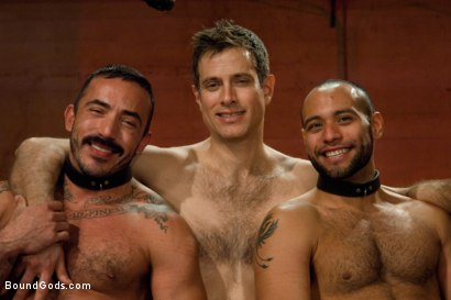 Photo number 15 from The Reunion - Live Shoot shot for Bound Gods on Kink.com. Featuring Alessio Romero, Leo Forte, Master Avery and Van Darkholme in hardcore BDSM & Fetish porn.