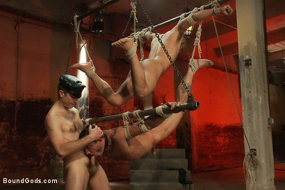 Photo number 9 from The Reunion - Live Shoot shot for Bound Gods on Kink.com. Featuring Alessio Romero, Leo Forte, Master Avery and Van Darkholme in hardcore BDSM & Fetish porn.