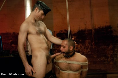 Photo number 4 from The Reunion - Live Shoot shot for Bound Gods on Kink.com. Featuring Alessio Romero, Leo Forte, Master Avery and Van Darkholme in hardcore BDSM & Fetish porn.