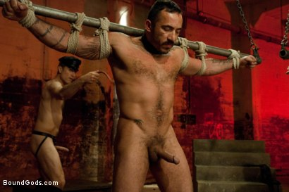 Photo number 10 from The Reunion - Live Shoot shot for Bound Gods on Kink.com. Featuring Alessio Romero, Leo Forte, Master Avery and Van Darkholme in hardcore BDSM & Fetish porn.