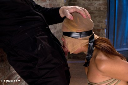 Photo number 9 from Sexy Japanese girl is tightly bound w/elbows together<br>Brutally skull fucked w/cock. Swallow it! shot for Hogtied on Kink.com. Featuring Yuki Mori in hardcore BDSM & Fetish porn.