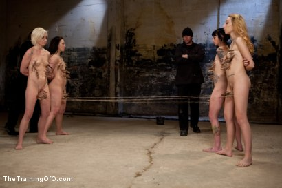 Photo number 6 from Day 2 February's Final 2 Slaves shot for The Training Of O on Kink.com. Featuring Emma Haize, Cheyenne Jewel, Michelle, Sparky Sin Claire and Shae Simone in hardcore BDSM & Fetish porn.