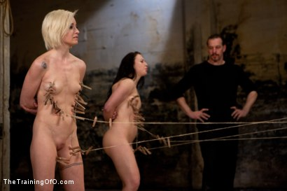 Photo number 10 from Day 2 February's Final 2 Slaves shot for The Training Of O on Kink.com. Featuring Emma Haize, Cheyenne Jewel, Michelle, Sparky Sin Claire and Shae Simone in hardcore BDSM & Fetish porn.