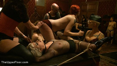 Photo number 8 from Welcome Cheyenne! shot for The Upper Floor on Kink.com. Featuring Kait Snow, Jessie Cox and Cheyenne Jewel in hardcore BDSM & Fetish porn.