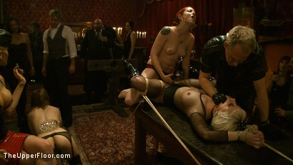 Photo number 12 from Welcome Cheyenne! shot for The Upper Floor on Kink.com. Featuring Kait Snow, Jessie Cox and Cheyenne Jewel in hardcore BDSM & Fetish porn.