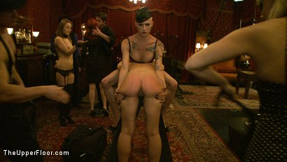 Photo number 13 from Welcome Cheyenne! shot for The Upper Floor on Kink.com. Featuring Kait Snow, Jessie Cox and Cheyenne Jewel in hardcore BDSM & Fetish porn.