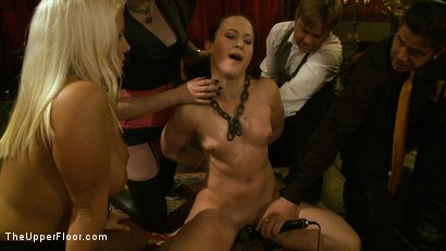 Photo number 1 from Welcome Cheyenne! shot for The Upper Floor on Kink.com. Featuring Kait Snow, Jessie Cox and Cheyenne Jewel in hardcore BDSM & Fetish porn.