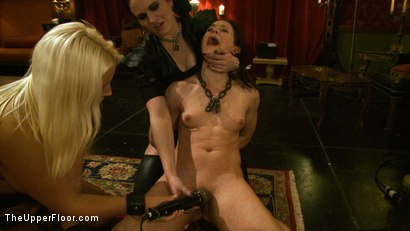 Photo number 2 from Welcome Cheyenne! shot for The Upper Floor on Kink.com. Featuring Kait Snow, Jessie Cox and Cheyenne Jewel in hardcore BDSM & Fetish porn.