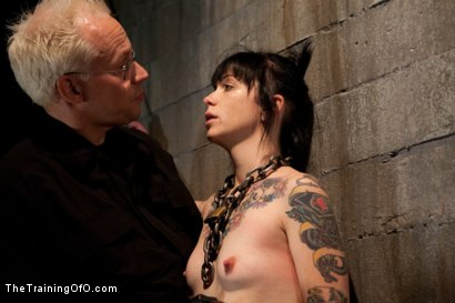 Photo number 2 from Day 3 - sparky and muscles  shot for The Training Of O on Kink.com. Featuring Cheyenne Jewel and Sparky Sin Claire in hardcore BDSM & Fetish porn.