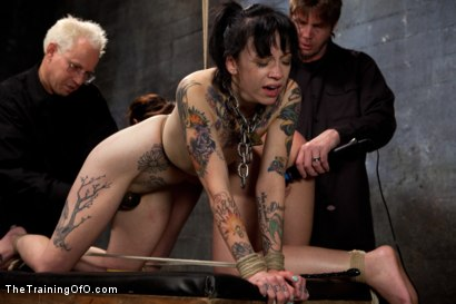 Photo number 8 from Day 3 - sparky and muscles  shot for The Training Of O on Kink.com. Featuring Cheyenne Jewel and Sparky Sin Claire in hardcore BDSM & Fetish porn.