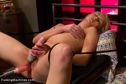 Photo number 3 from HER FIRST PORN  Amateur Blond HOTNESS Makes Her First Porn on FuckingMachines.com shot for Fucking Machines on Kink.com. Featuring Natasha Lyn in hardcore BDSM & Fetish porn.