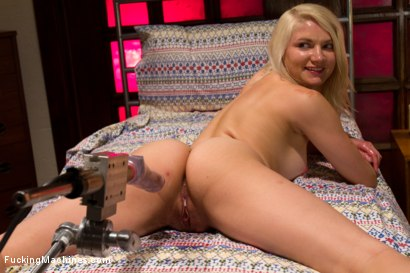 Photo number 14 from HER FIRST PORN  Amateur Blond HOTNESS Makes Her First Porn on FuckingMachines.com shot for Fucking Machines on Kink.com. Featuring Natasha Lyn in hardcore BDSM & Fetish porn.