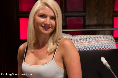 Photo number 1 from HER FIRST PORN  Amateur Blond HOTNESS Makes Her First Porn on FuckingMachines.com shot for Fucking Machines on Kink.com. Featuring Natasha Lyn in hardcore BDSM & Fetish porn.