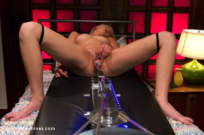 Photo number 2 from HER FIRST PORN <br> Amateur Blond HOTNESS Makes Her First Porn on FuckingMachines.com shot for Fucking Machines on Kink.com. Featuring Natasha Lyn in hardcore BDSM & Fetish porn.