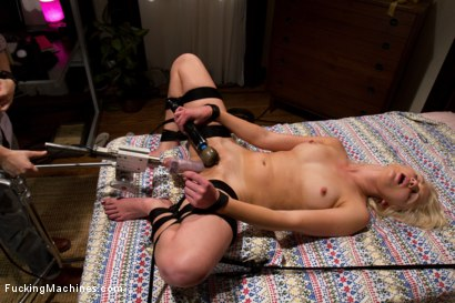 Photo number 2 from Bind Her To The Bed   Fuck Her With Machines shot for Fucking Machines on Kink.com. Featuring Natasha Lyn in hardcore BDSM & Fetish porn.