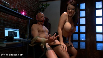 Photo number 8 from Mistress Sophie Dee owns your cock! shot for Divine Bitches on Kink.com. Featuring Sophie Dee and Chad Rock in hardcore BDSM & Fetish porn.