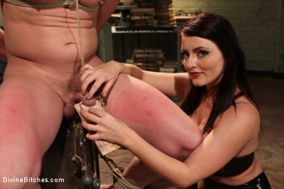 Photo number 14 from Mistress Sophie Dee owns your cock! shot for Divine Bitches on Kink.com. Featuring Sophie Dee and Chad Rock in hardcore BDSM & Fetish porn.