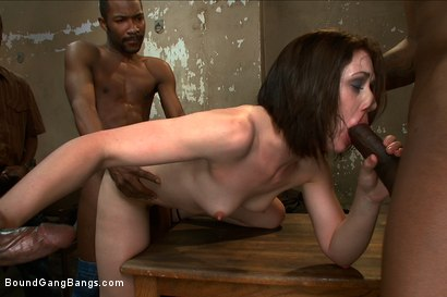 Photo number 8 from Hot Slut Pays off her Boyfriend's Debts with her Body shot for Bound Gang Bangs on Kink.com. Featuring Sarah Shevon in hardcore BDSM & Fetish porn.