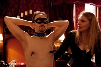 Photo number 11 from Stefanos' Brunch shot for The Upper Floor on Kink.com. Featuring Maestro Stefanos, Nerine Mechanique, Jessie Cox and Kait Snow in hardcore BDSM & Fetish porn.
