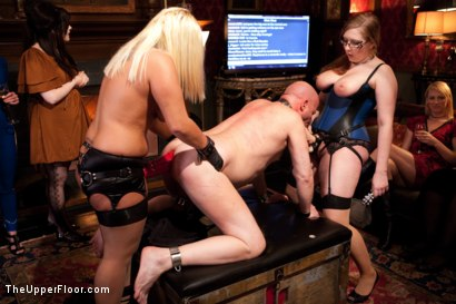 Photo number 7 from Stefanos' Brunch shot for The Upper Floor on Kink.com. Featuring Maestro Stefanos, Nerine Mechanique, Jessie Cox and Kait Snow in hardcore BDSM & Fetish porn.
