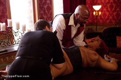 Photo number 8 from Stefanos' Brunch shot for The Upper Floor on Kink.com. Featuring Maestro Stefanos, Nerine Mechanique, Jessie Cox and Kait Snow in hardcore BDSM & Fetish porn.