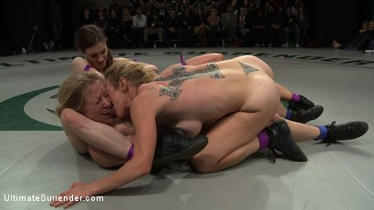 Photo number 13 from First Match of the 2011 Tag Team League!: The Goddesses vs Team Ice<br> In front of a LIVE audience! shot for Ultimate Surrender on Kink.com. Featuring Allie Haze, Dia Zerva, Dee Williams, Iona Grace and Isis Love in hardcore BDSM & Fetish porn.