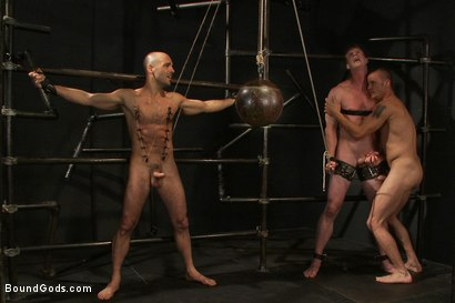 Photo number 7 from The Debt Collector shot for Bound Gods on Kink.com. Featuring Brenn Wyson, Adam Russo and Blake Daniels in hardcore BDSM & Fetish porn.