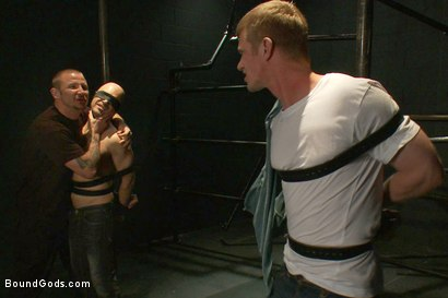 Photo number 1 from The Debt Collector shot for Bound Gods on Kink.com. Featuring Brenn Wyson, Adam Russo and Blake Daniels in hardcore BDSM & Fetish porn.
