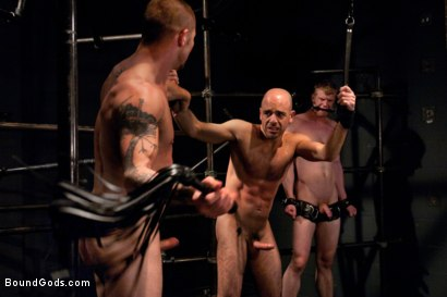 Photo number 5 from The Debt Collector shot for Bound Gods on Kink.com. Featuring Brenn Wyson, Adam Russo and Blake Daniels in hardcore BDSM & Fetish porn.